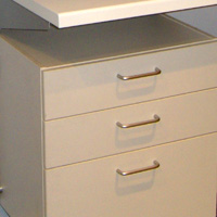 Toprail - Commercial 3 drawer unit