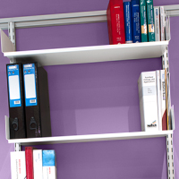 Toprail - One piece shelving