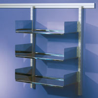 Toprail - Stainless steel shelving
