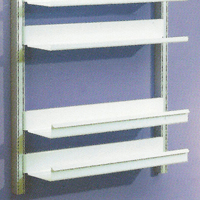 Toprail - Deep lipped shelves